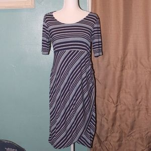 Jessica Simpson Maternity Blue Striped Dress
